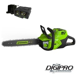 GREENWORKS 60 Volt accu kettingzaag GD60CS40K2X