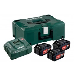METABO Basis-set: accu-packs + lader in metaloc 3 x Li-Power accu-pack 18 V/5,2 Ah 685062000