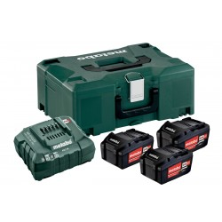 METABO Basis-set: accu-packs + lader in metaloc 3 x Li-Power accu-pack 18 V/4,0 Ah 685063000