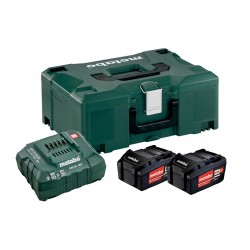 METABO Basis-set: accu-packs + lader in metaloc 2 x Li-Power accu-pack 18 V/4,0 Ah 685064000