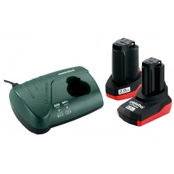 METABO Basis-set: accu-packs + lader Basisset 10.8 V: 2.0 Ah + 5.2 Ah, lader LC 40 685067000