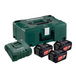 METABO Basis-set: accu-packs + lader in metaloc Basisset 18 V: 3 x 5.2 Ah, lader ASC ULTRA 685068000