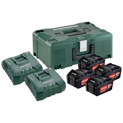 METABO Basis-set: accu-packs + lader in metaloc Basisset 18 V: 4x Li-Power 5,2Ah + ML + 2x ASC Ultra 685106000