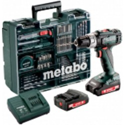 METABO Accu klopboormachine 18 volt 13mm, 2 x 2,0 ah li-power, SC 60 plus SB 18 l mobile workshop 602317870