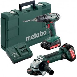 METABO Accu combo set 18 volt 2.0+4.0 ah, sc 60 plus combo set 2.4.3:  bs 18 + w 18 ltx 125 quick 685082000