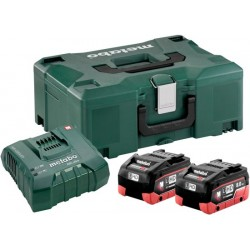 METABO Basis-set: accu-packs + lader in metaloc basic-set 18 v: 2 x lihd 8.0 ah, lader asc ultra 685131000