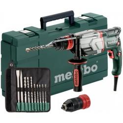 METABO Multihamer snelspanboorhouder en 10 delige boor/beitelset uhe 2660-2 quick set 600697510