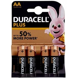 DURACELL PlusPower Alkaline batterij 1,5V AA MN1500 BDLR06-BL4