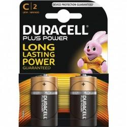 DURACELL PlusPower Alkaline batt 1,5V C LR14 MN1400 blister 2 stuks BDLR14-BL2