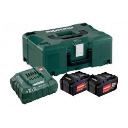 METABO Basis-set: accu-packs + lader in metaloc 2 x Li-Power accu-pack 18 V/5,2 Ah 685065000