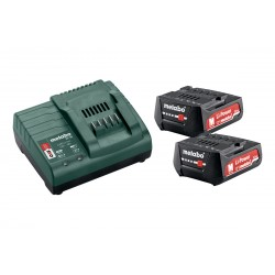 METABO Basis-set: accu-packs + lader Basic-Set 12V 2 x 2,0 Ah, lader SC 30 in doos 685300000