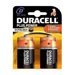 DURACELL PlusPower Alkaline batterij 1,5V D LR20 MN1300. 2 stuks BDLR20-BL2